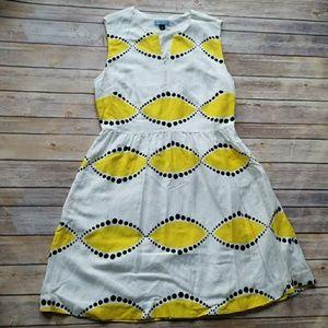 Cynthia Rowley Printed Linen Blend Dress